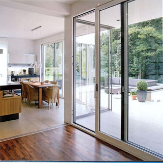 Quality-assured Sliding Door Aluminum Alloy Home Sliding Door with Tempered Glass