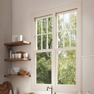 Durable Aluminum Double Sash Window for Bathrooms with Float Glass